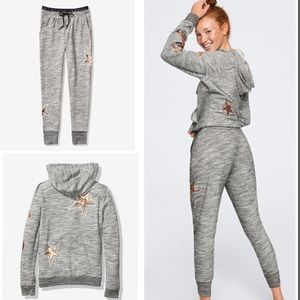 VS PINK Bling Perfect Full-Zip Hoodie And Jogger M